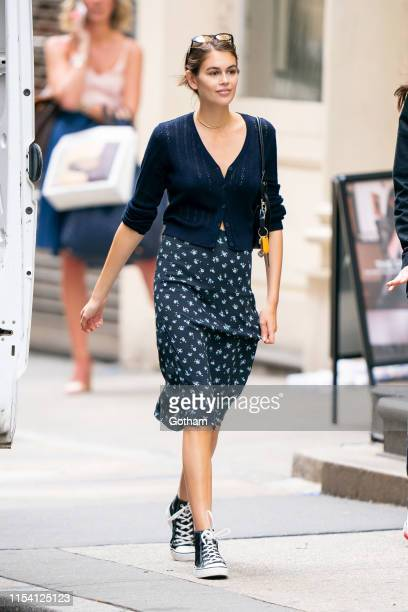 Kaia Gerber is seen in SoHo on June 06 2019 in New York City