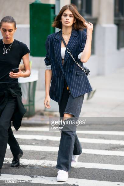 Kaia Gerber is seen in SoHo on June 24, 2019 in New York City.