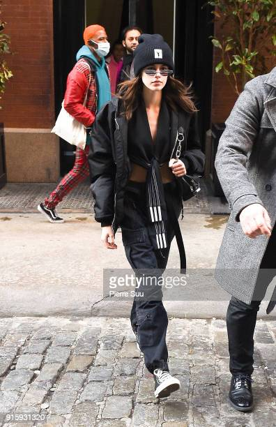 Kaia Gerber is seen leaving The Mercer hotel on February 8 2018 in New York City
