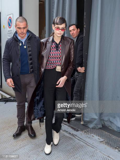 Kaia Gerber is seen on Day 2 Milan Fashion Week Autumn/Winter 2019/20 on February 21 2019 in Milan Italy