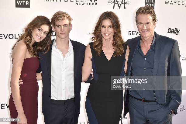 Kaia Gerber Presley Gerber Cindy Crawford and Rande Gerber attend the Daily Front Row's 3rd Annual Fashion Los Angeles Awards Arrivals at Sunset...