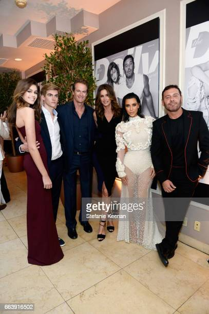 Kaia Gerber Presley Gerber Rande Gerber Cindy Crawford Kim Kardashian West and Mert Alas attend the Daily Front Row's 3rd Annual Fashion Los Angeles...