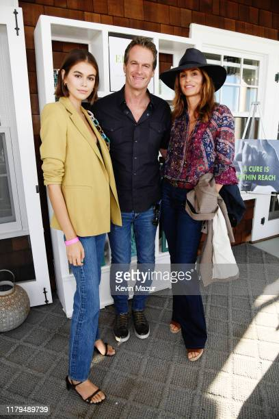 Kaia Gerber, Rande Gerber and Cindy Crawford attend ROCK4EB! at Private Residence on October 06, 2019 in Malibu, California.