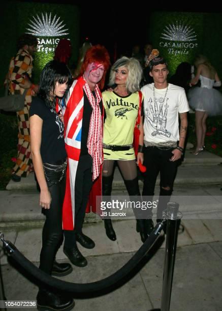Kaia Gerber, Rande Gerber, Cindy Crawford, and Presley Gerber are seen on October 26, 2018 in Los Angeles, California.