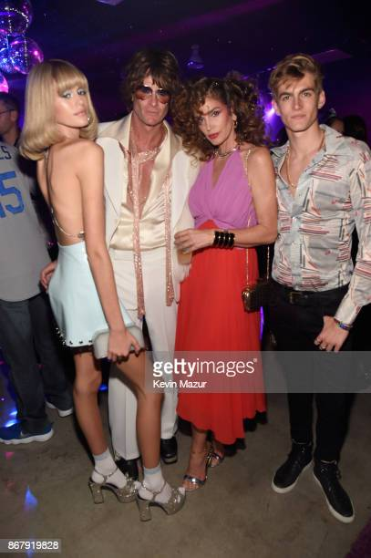 Kaia Gerber Rande Gerber Cindy Crawford and Presley Gerber attend Casamigos Halloween Party on October 27 2017 in Los Angeles California