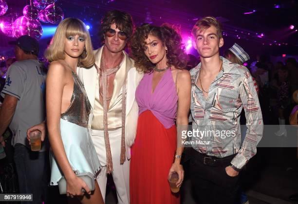 Kaia Gerber, Rande Gerber, Cindy Crawford and Presley Gerber attend Casamigos Halloween Party on October 27, 2017 in Los Angeles, California.
