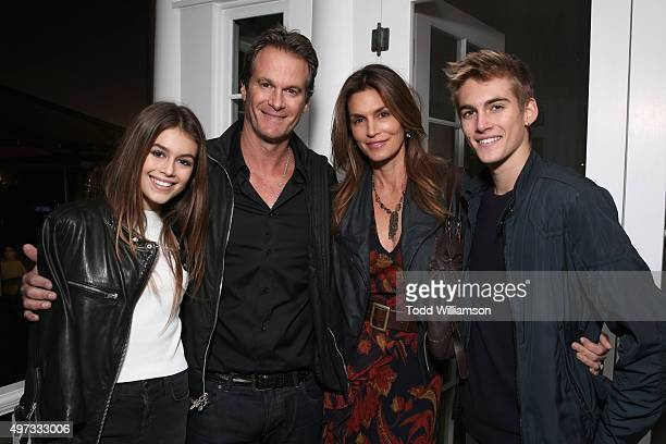 Kaia Gerber Rande Gerber model Cindy Crawford and Presley Gerber attend Rock4EB 2015 with Ed Sheeran and David Spade on November 15 2015 in Malibu...