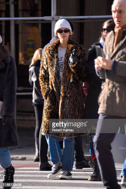 Kaia Gerber seen out and about in Manhattan on December 12, 2019 in New York City.