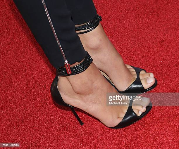 Kaia Gerber shoe detail arrives at the Los Angeles premiere of Lifetime's Sister Cities held at Paramount Theatre on August 31 2016 in Hollywood...