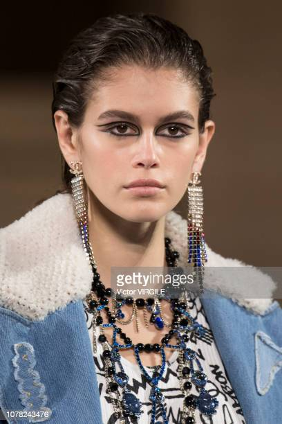 Kaia Gerber walks the runway at Chanel Metiers D'Art 2018/2019 Fashion show at The Metropolitan Museum of Art on December 04 2018 in New York City