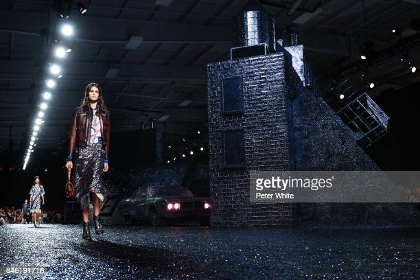 Kaia Gerber walks the runway at Coach Fashion Show during New York Fashion Week on September 12 2017 in New York City