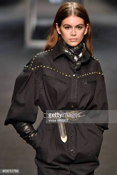 Kaia Gerber walks the runway at the Alberta Ferretti Ready to Wear Fall/Winter 20182019 fashion show during Milan Fashion Week Fall/Winter 2018/19 on...
