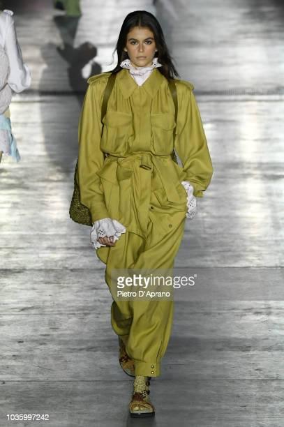 Kaia Gerber walks the runway at the Alberta Ferretti show during Milan Fashion Week Spring/Summer 2019 on September 19 2018 in Milan Italy