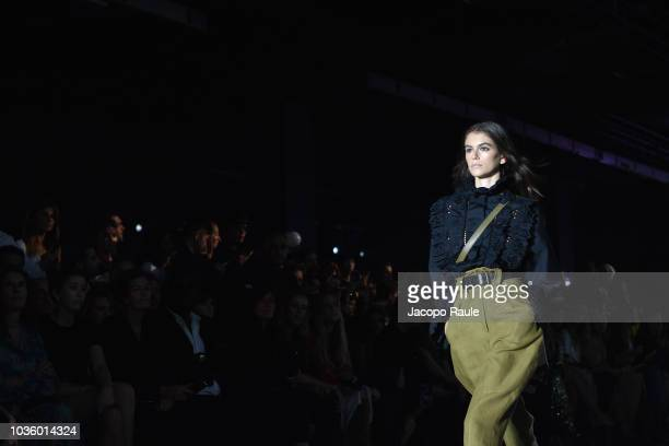 Kaia Gerber walks the runway at the Alberta Ferretti show during Milan Fashion Week Spring/Summer 2019 on September 19 2018 in Milan Italy