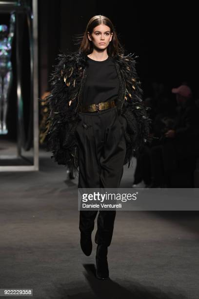 Kaia Gerber walks the runway at the Alberta Ferretti show during Milan Fashion Week Fall/Winter 2018/19 on February 21 2018 in Milan Italy