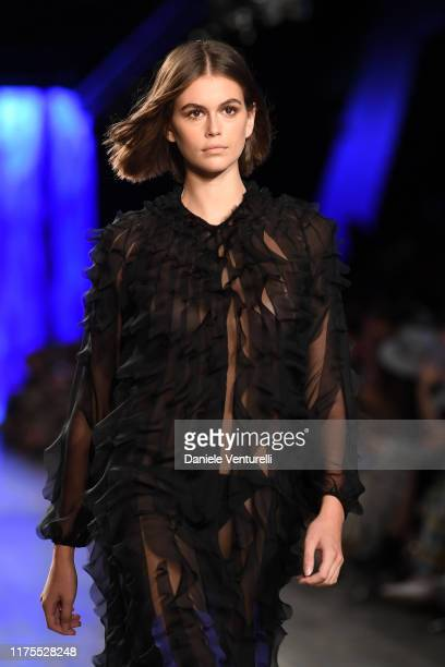 Kaia Gerber walks the runway at the Alberta Ferretti show during the Milan Fashion Week Spring/Summer 2020 on September 18 2019 in Milan Italy