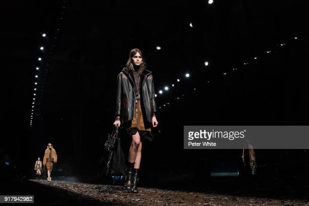 Kaia Gerber walks the runway at the Coach Fall 2018 Show during New York Fashion Week on February 13 2018 in New York City