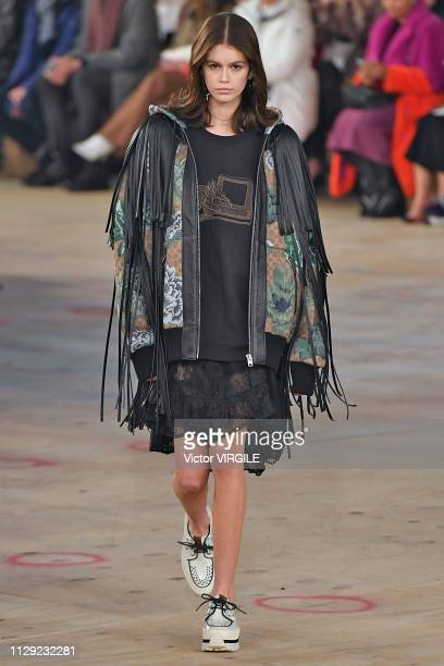 Kaia Gerber walks the runway at the Coach Ready to Wear Fall/Winter 20192020 fashion show during New York Fashion Week on February 12 2019 in New...