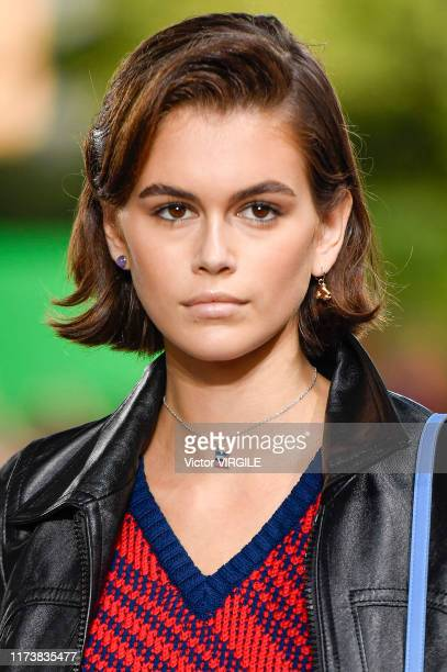 Kaia Gerber walks the runway at the Coach Ready to Wear Spring/Summer 2020 fashion show during New York Fashion Week: The Shows on September 10, 2019...