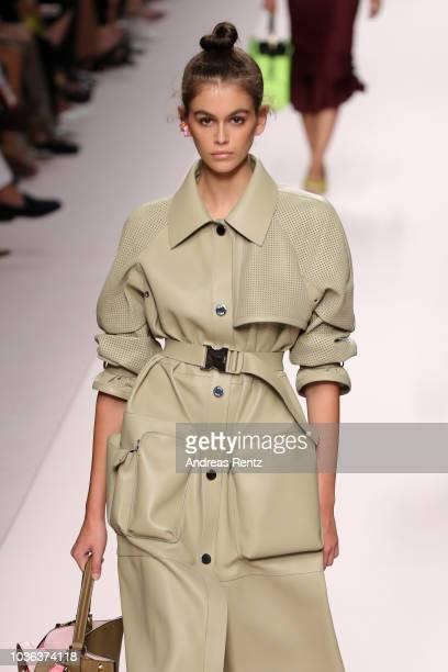 Kaia Gerber walks the runway at the Fendi show during Milan Fashion Week Spring/Summer 2019 on September 20 2018 in Milan Italy