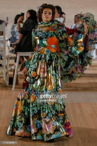 Kaia Gerber walks the runway at the Marc Jacobs Ready to Wear Spring/Summer 2020 fashion show during New York Fashion Week on September 11, 2019 in...