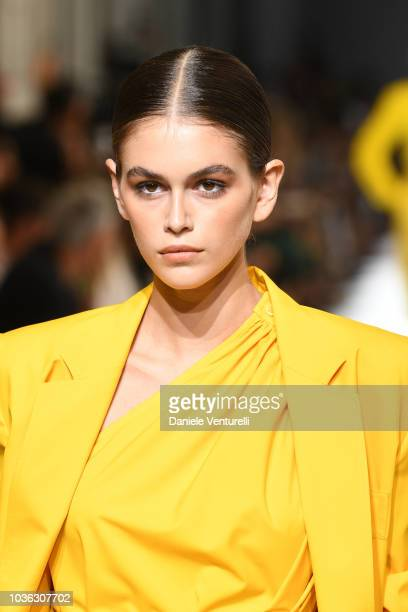 Kaia Gerber walks the runway at the Max Mara show during Milan Fashion Week Spring/Summer 2019 on September 20 2018 in Milan Italy
