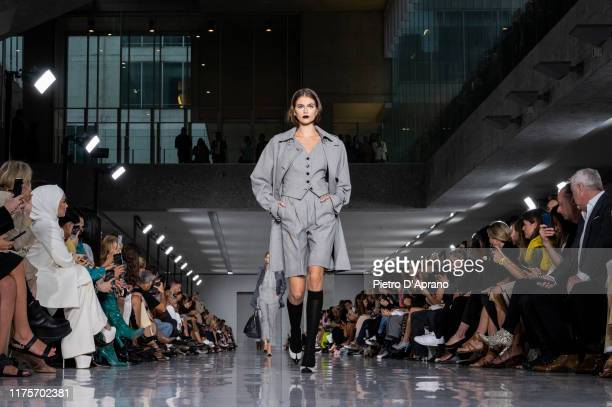 Kaia Gerber walks the runway at the Max Mara show during the Milan Fashion Week Spring/Summer 2020 on September 19 2019 in Milan Italy