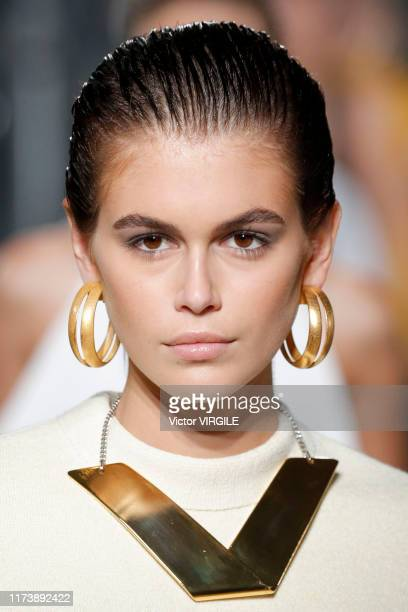 Kaia Gerber walks the runway at the Proenza Schouler Ready to Wear Spring/Summer 2020 fashion show during New York Fashion Week on September 10, 2019...