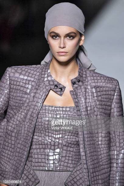 Kaia Gerber walks the runway at the Tom Ford fashion show during New York Fashion Week Spring/Summer 2019 on September 5 2018 in New York City