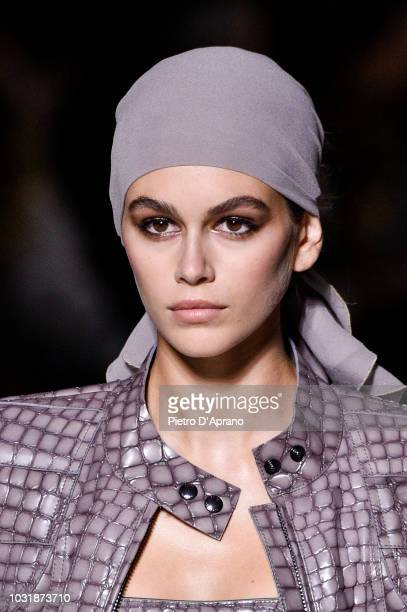 Kaia Gerber walks the runway at the Tom Ford show at Park Avenue Armory on September 5 2018 in New York City