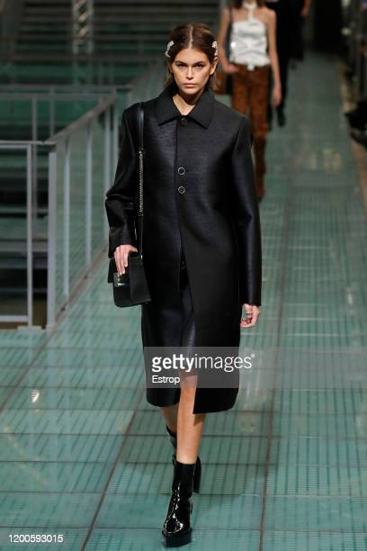 Kaia Gerber walks the runway during the Alyx Menswear Fall/Winter 2020-2021 show as part of Paris Fashion Week on January 19, 2020 in Paris, France.