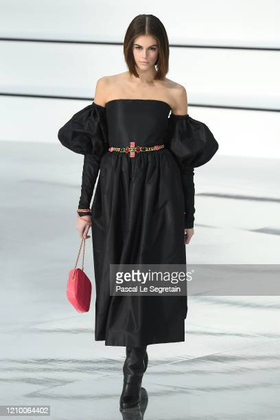 Kaia Gerber walks the runway during the Chanel as part of the Paris Fashion Week Womenswear Fall/Winter 2020/2021 on March 03 2020 in Paris France