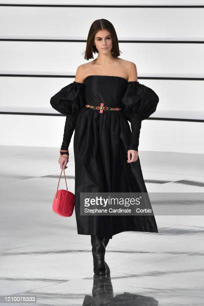 Kaia Gerber walks the runway during the Chanel as part of the Paris Fashion Week Womenswear Fall/Winter 2020/2021 on March 03, 2020 in Paris, France.