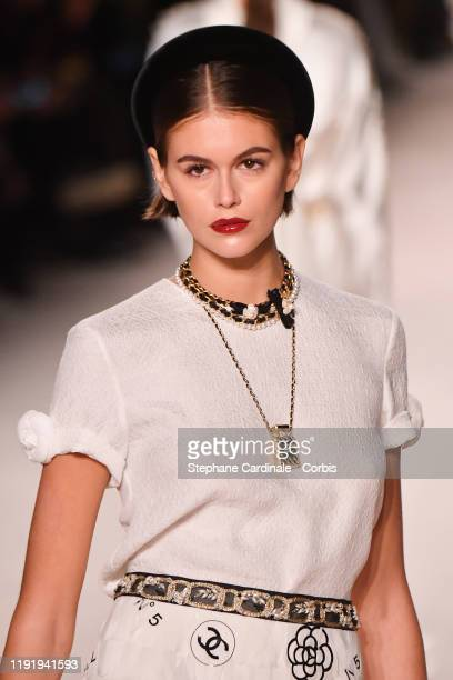 Kaia Gerber walks the runway during the Chanel Metiers d'art 20192020 show at Le Grand Palais on December 04 2019 in Paris France