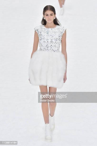 Kaia Gerber walks the runway during the Chanel show as part of the Paris Fashion Week Womenswear Fall/Winter 2019/2020 on March 5 2019 in Paris France