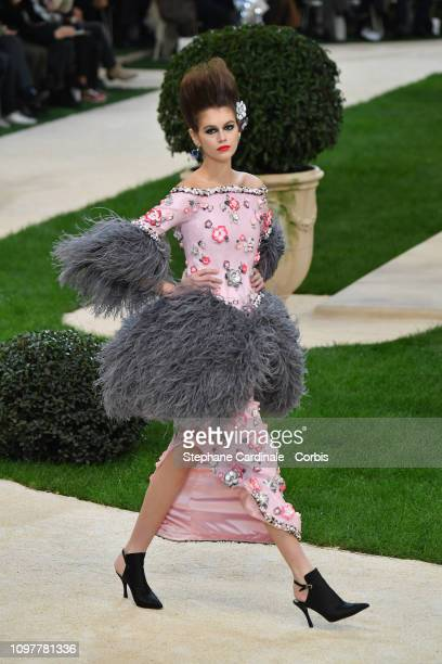 Kaia Gerber walks the runway during the Chanel Spring Summer 2019 show as part of Paris Fashion Week on January 22 2019 in Paris France