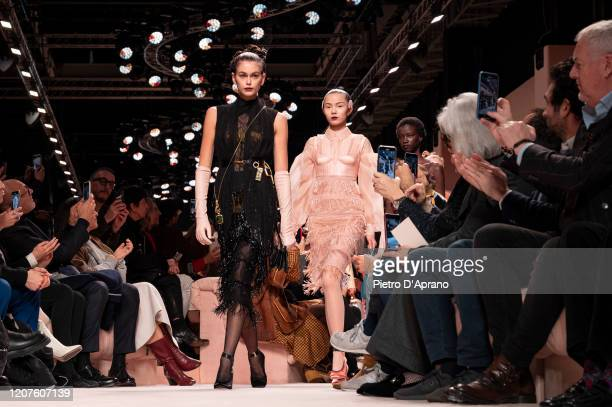Kaia Gerber walks the runway during the Fendi fashion show as part of Milan Fashion Week Fall/Winter 20202021 on February 20 2020 in Milan Italy