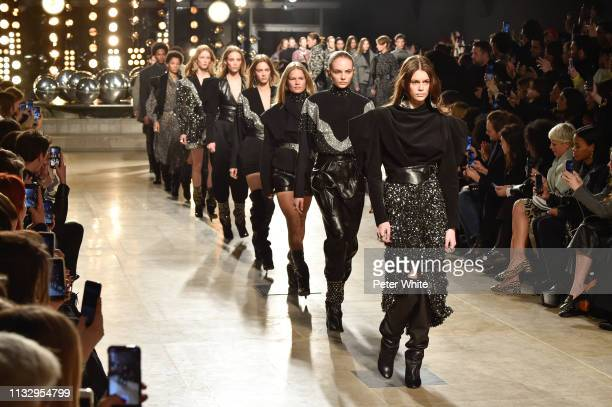 Kaia Gerber walks the runway during the Isabel Marant show as part of the Paris Fashion Week Womenswear Fall/Winter 2019/2020 on February 28 2019 in...