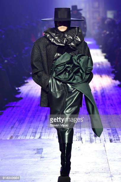 Kaia Gerber walks the runway during the Marc Jacobs Fall 2018 Show at Park Avenue Armory on February 14 2018 in New York City