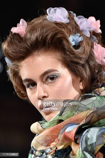 Kaia Gerber walks the runway during the Marc Jacobs Spring 2020 Runway Show at Park Avenue Armory on September 11 2019 in New York City