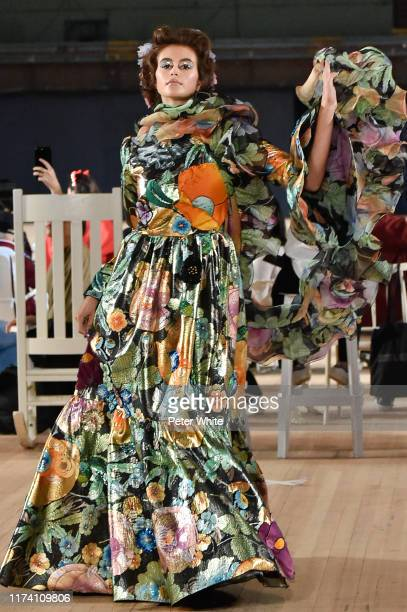 Kaia Gerber walks the runway during the Marc Jacobs Spring 2020 Runway Show at Park Avenue Armory on September 11, 2019 in New York City.
