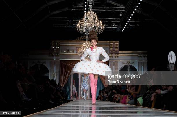 Kaia Gerber walks the runway during the Moschino fashion show as part of Milan Fashion Week Fall/Winter 20202021 on February 20 2020 in Milan Italy