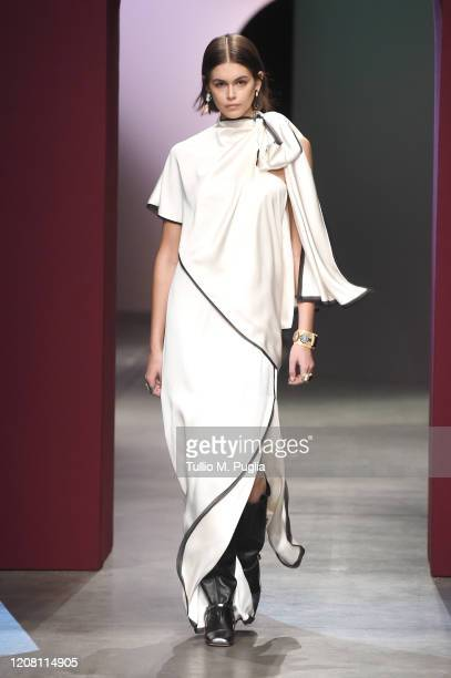 Kaia Gerber walks the runway during the Ports 1961 fashion show as part of Milan Fashion Week Fall/Winter 20202021 on February 23 2020 in Milan Italy
