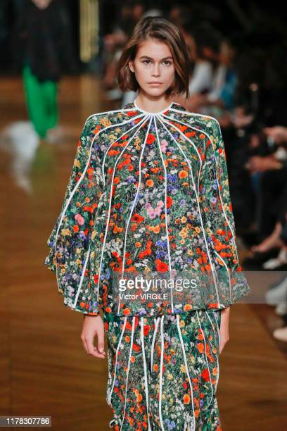 Kaia Gerber walks the runway during the Stella McCartney Ready to Wear Spring/Summer 2020 fashion show as part of Paris Fashion Week on September 30...