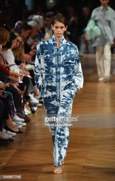 Kaia Gerber walks the runway during the Stella McCartney show as part of the Paris Fashion Week Womenswear Spring/Summer 2019 on October 1 2018 in...