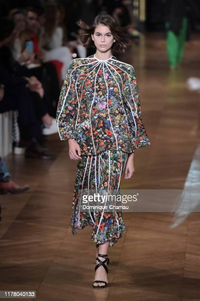 Kaia Gerber walks the runway during the Stella McCartney Womenswear Spring/Summer 2020 show as part of Paris Fashion Week on September 30, 2019 in...