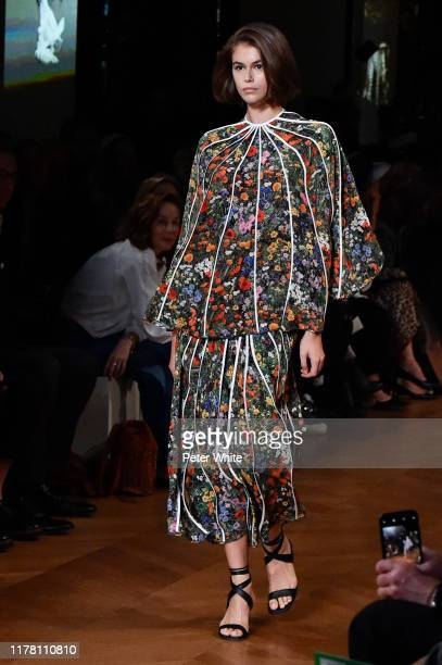 Kaia Gerber walks the runway during the Stella McCartney Womenswear Spring/Summer 2020 show as part of Paris Fashion Week on September 30 2019 in...