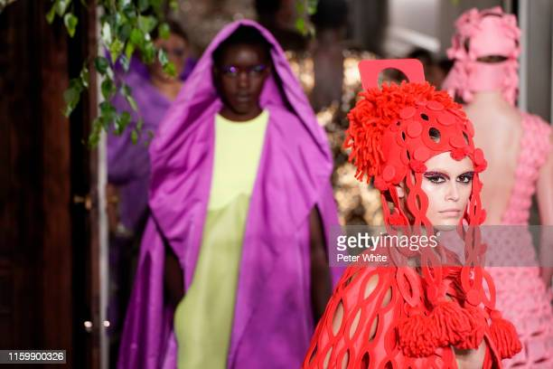Kaia Gerber walks the runway during the Valentino Fall/Winter 2019 2020 show as part of Paris Fashion Week on July 03, 2019 in Paris, France.