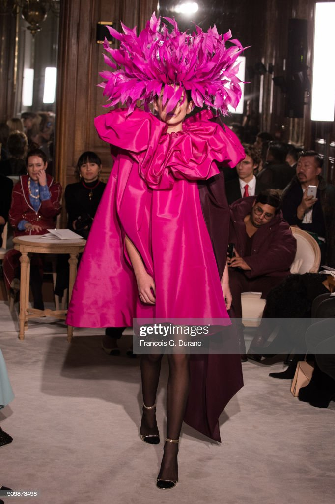 Kaia Gerber walks the runway during the Valentino Haute Couture Spring Summer 2018 show as part of Paris Fashion Week on January 24, 2018 in Paris, France.