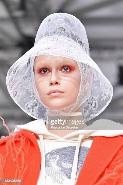 Kaia Gerber walks the runway during the Valentino show as part of the Paris Fashion Week Womenswear Fall/Winter 2019/2020 on March 03 2019 in Paris...